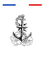 tatouage ancre marine dans ocean