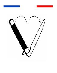tatouage couteau cœur old school noir