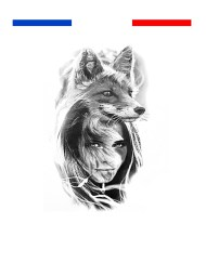 tatouage portrait loup femme