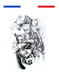 Tatouage Carpe Koi Asie Noir et Blanc