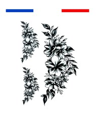 Tatouage fleur bas du dos cuisse ou underboobs