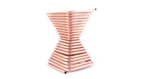 Serpentina a spirale quadrata in rame