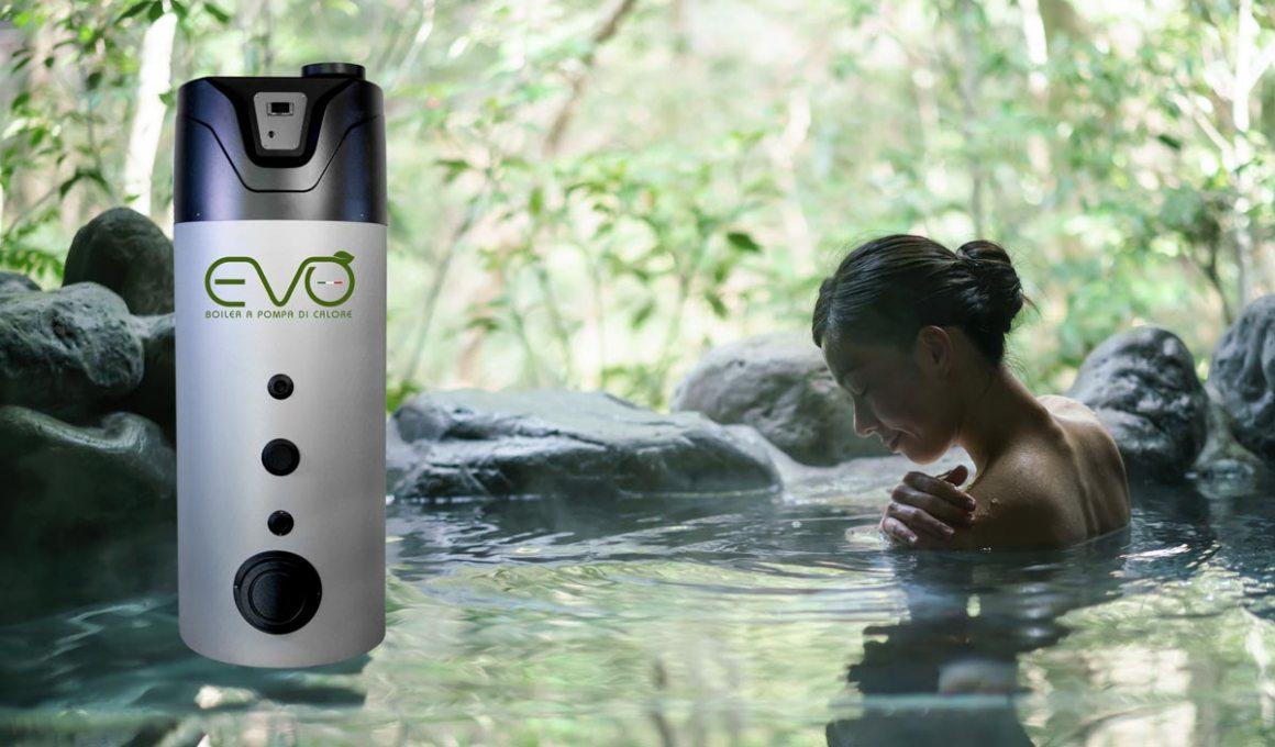 EVO Caldaia Boiler a Pompa di Calore per produzione di acqua calda sanitaria