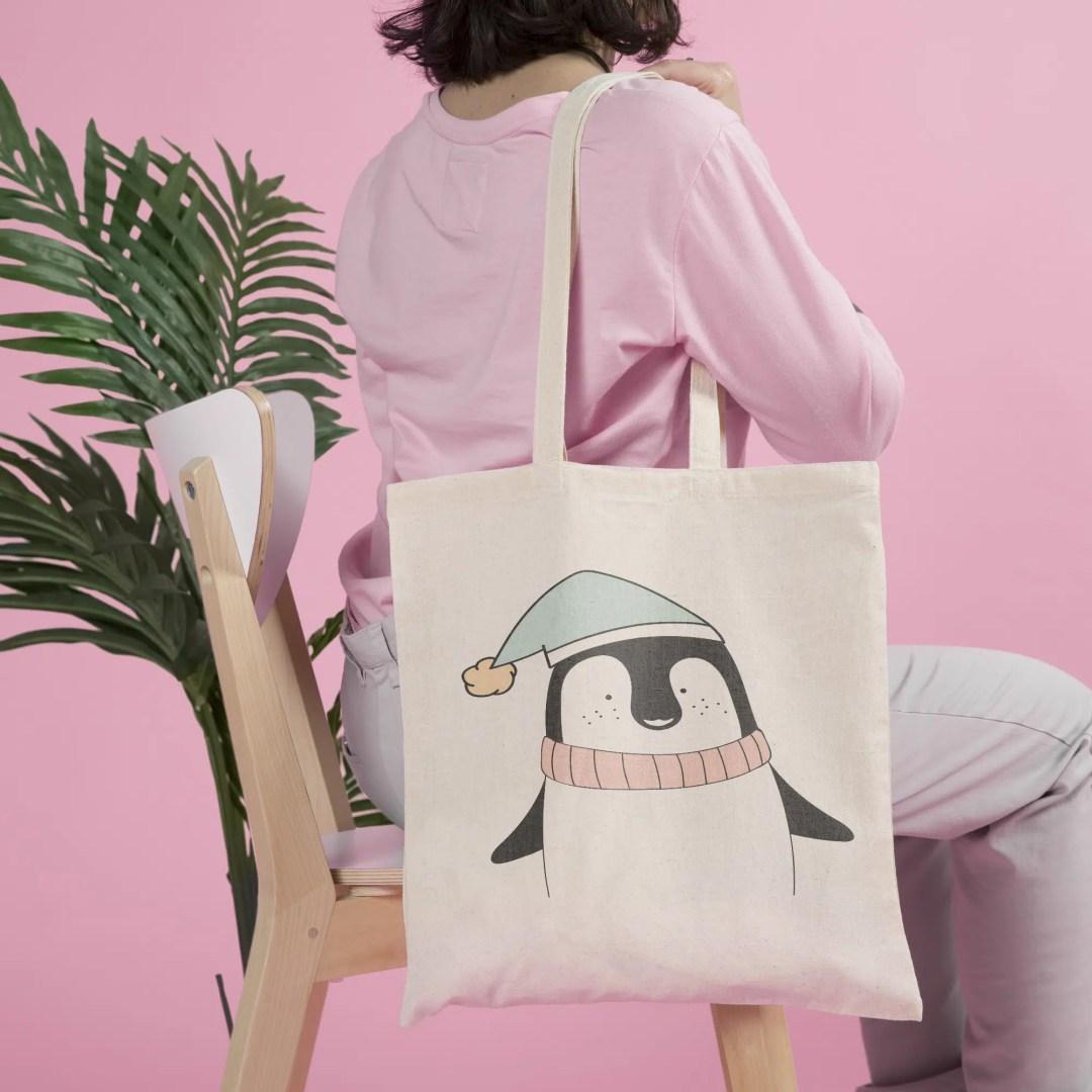 tote bag femme pingouin