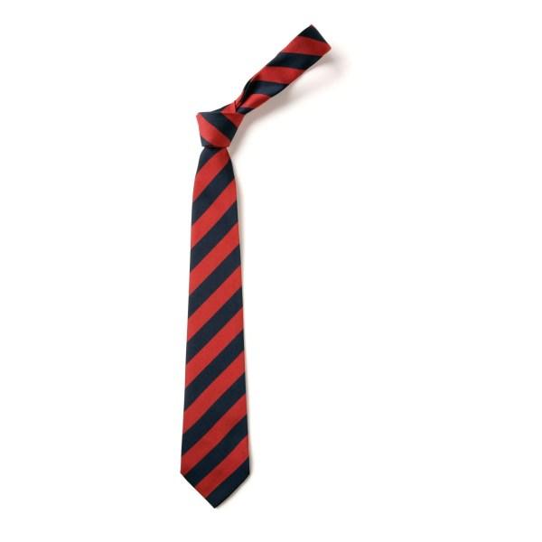 cravate à rayures pour uniforme scolaire