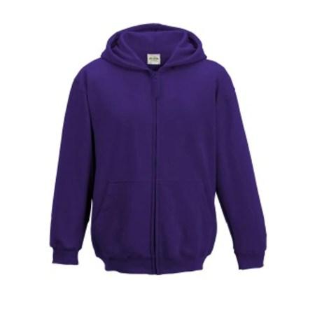 sweat-shirt à capuche zippé pour uniforme scolaire
