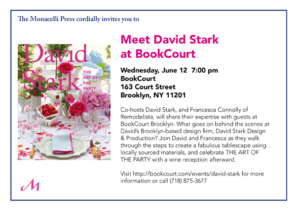 Meet David Stark at BookCourt on June 12