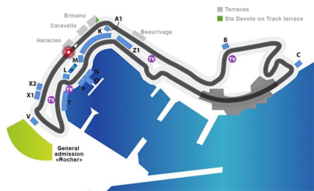 Grandstands Tickets To Attend The Monaco Formula 1 Grand Prix