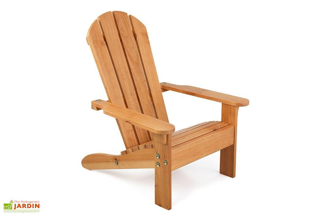 fauteuil adirondack pour enfants en bois miel
