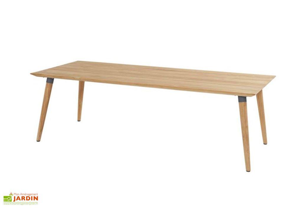 table de jardin en bois de teck sophie studio teak 100 x 240 cm