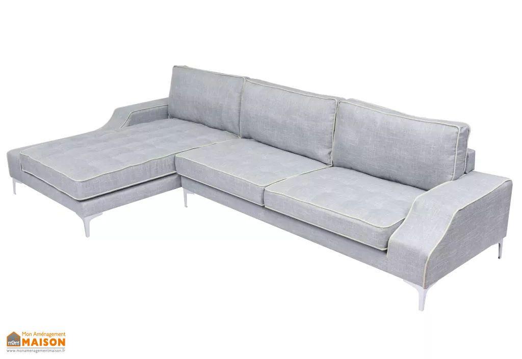 canape d angle avec meridienne 4 6 places tissu gris 3m