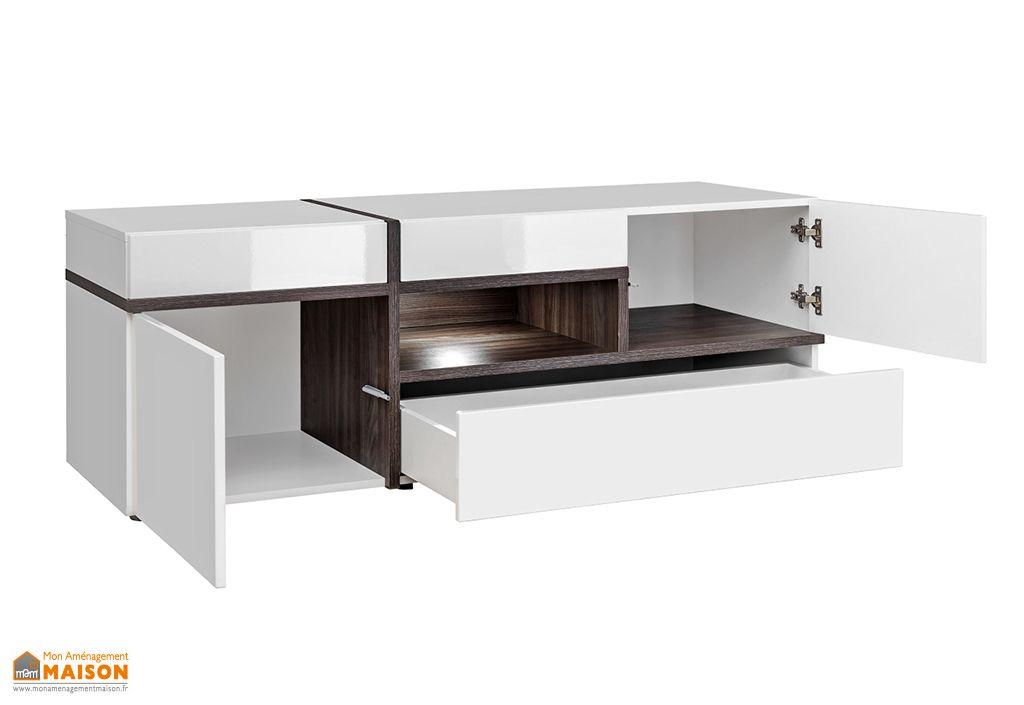 ensemble meubles de salon en bois cross blanc