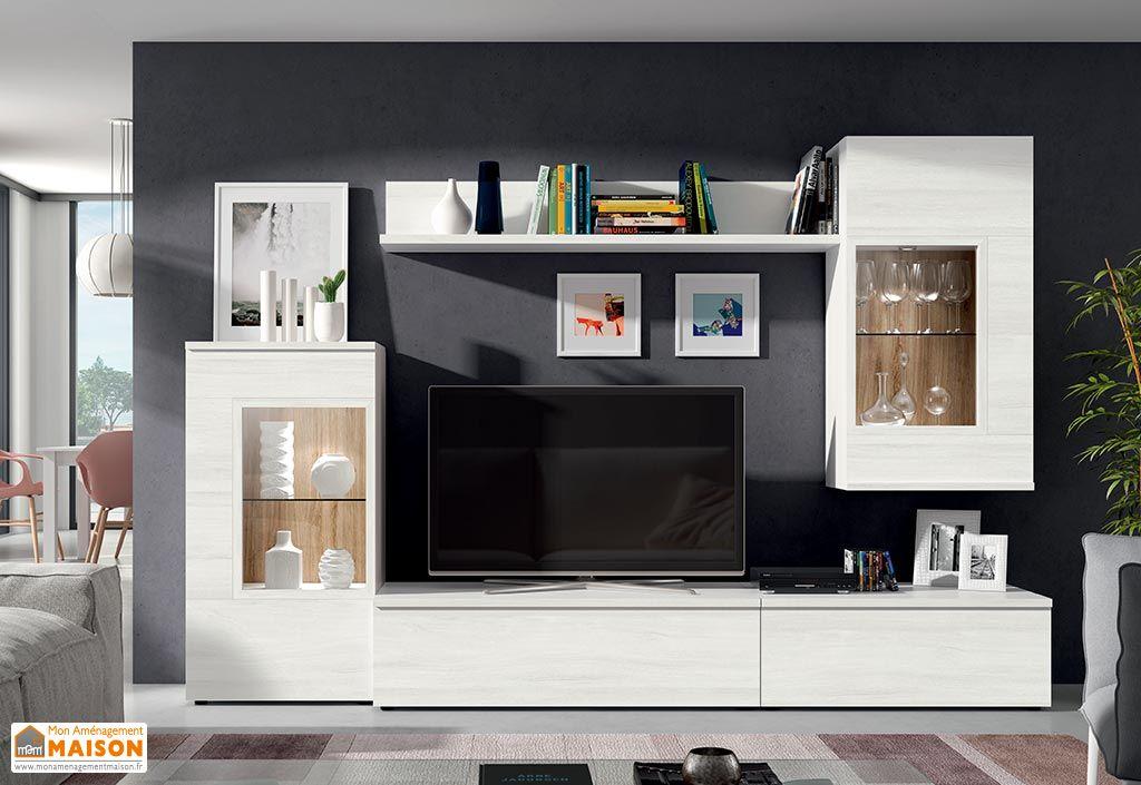 ensemble meuble tv design mural copenhague 270x195cm