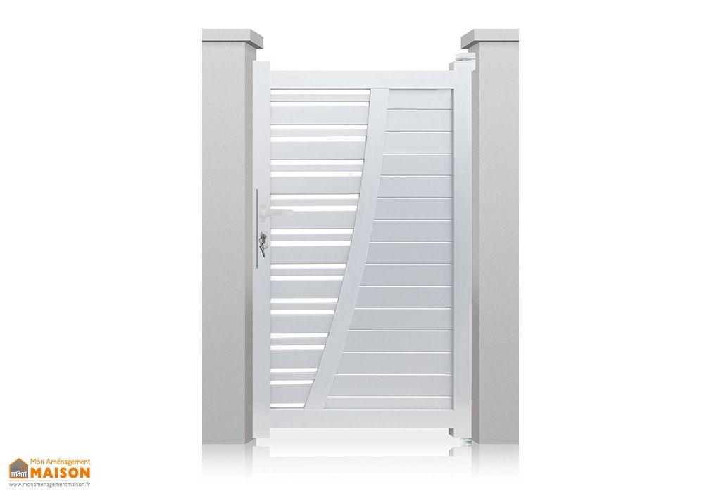 portillon aluminium battant new york h 1 70 m blanc