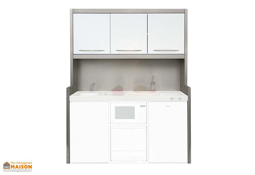 meuble haut studioline d en metal pour kitchenette stengel 120 et 150 cm