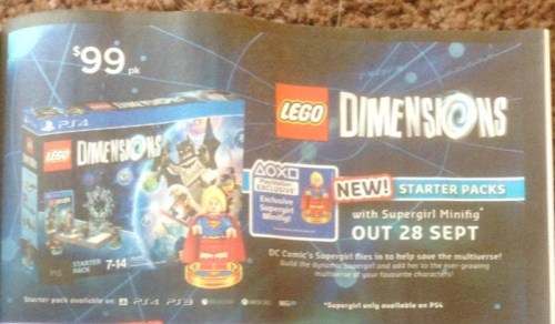 $99 LEGO Dimensions Starter Pack w/ Supergirl @ Big W