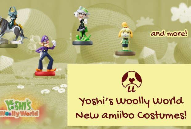 Poochy & Yoshi's Woolly World - New amiibo Costumes