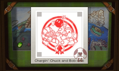 Mario & Luigi: Superstar Saga + Bowser's Minions - Chargin' Chuck and Bob-Omb Stamp