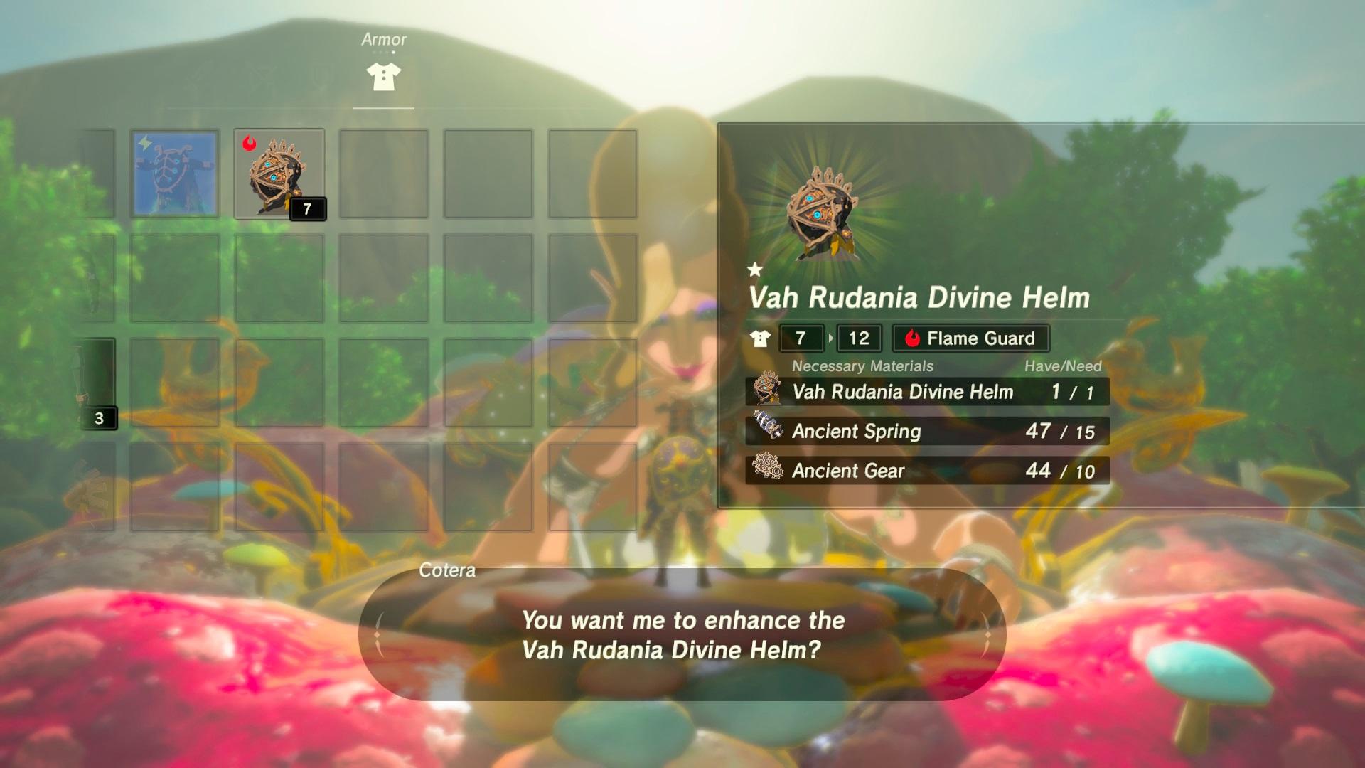 Breath of the Wild - Divine Helm Level 1 Upgrade