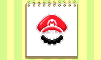 New Style Boutique 3/Style Savvy 3 - Mario amiibo emblem
