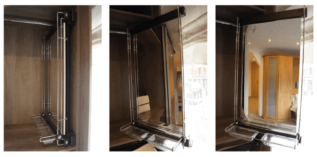 Pull Out & Swivel Mirror (with tray)