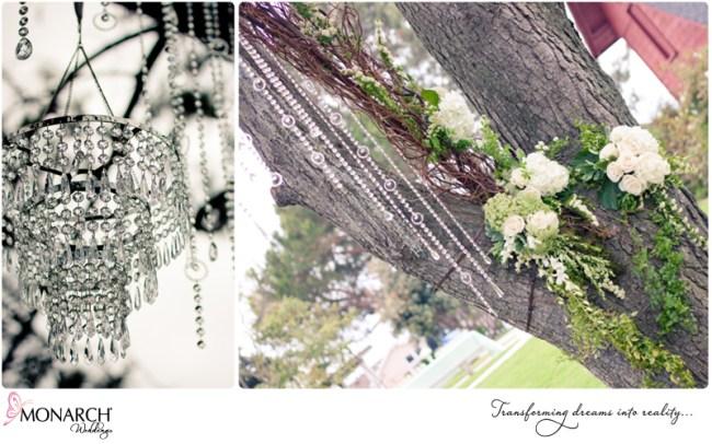 Shabby-chic-park-wedding-crystal-chandelier-crystals-branch-arch