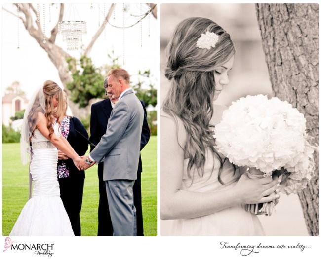Shabby-chic-park-wedding-crystal-chandelier-crystals-branch-arch-prayer