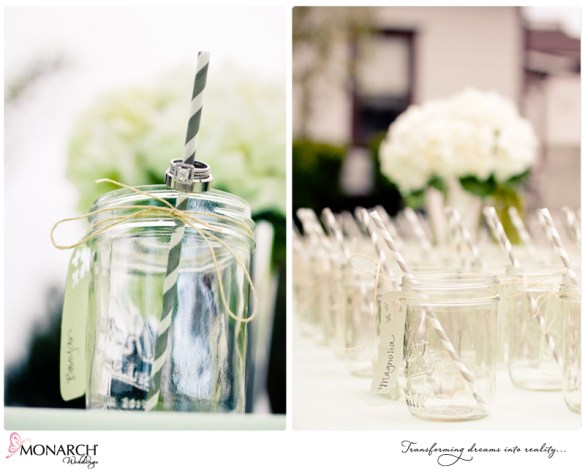 Mason-jar-place-card-table-stripped-straw-cocktail-hour