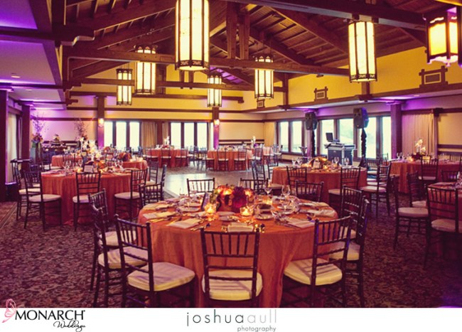 Lodge-at-torrey-pines-orange-purple-wedding-chiavari-chairs