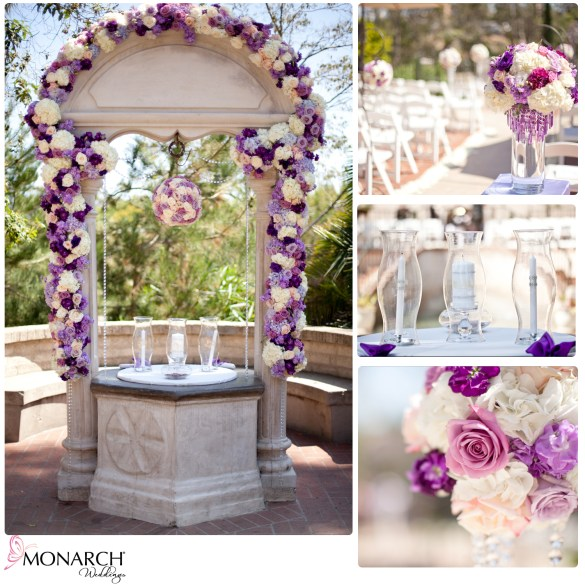 Purple_Florals_Wishing_Well_Candle_Lighting_Ceremony_Pomanders