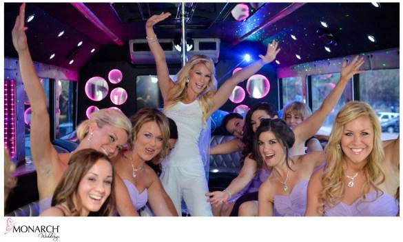 Bridal_party_limobus_purple_bridesmaids_dress