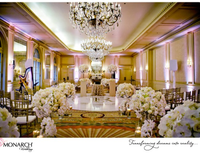 Orchids-crystal-chandelier-french-vintage-wedding-versailles-ballroom-westgate-hotel