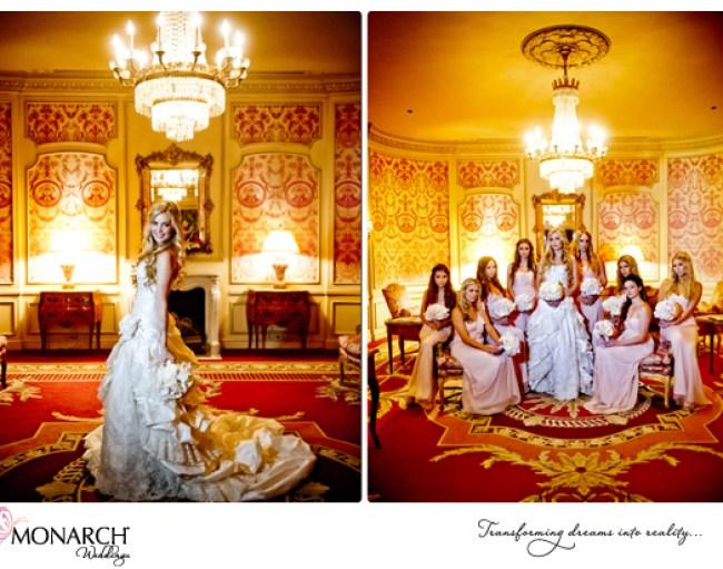 Bride-and-Bridesmaids-photos-Wesgate-Hotel-Blush-vintage-wedding