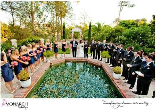 Prado-Balboa-Park-Tropical-Wedding-Ceremony-Bridal-Party-Wishing-Well