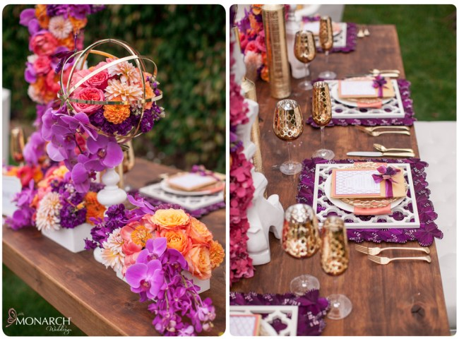 Farm-table-butterfly-place-mats-gold-spheres-exquisite-weddings