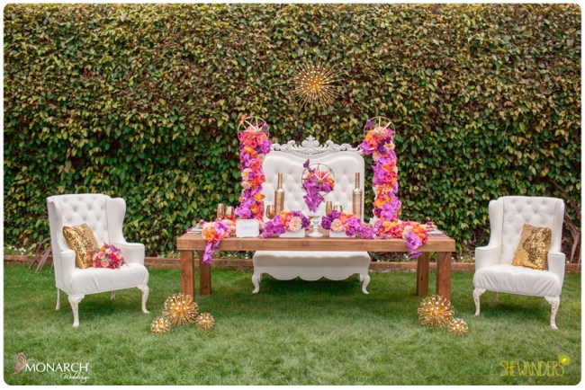 Equisite-Weddings-white-throne-chair-farm-table-wedding