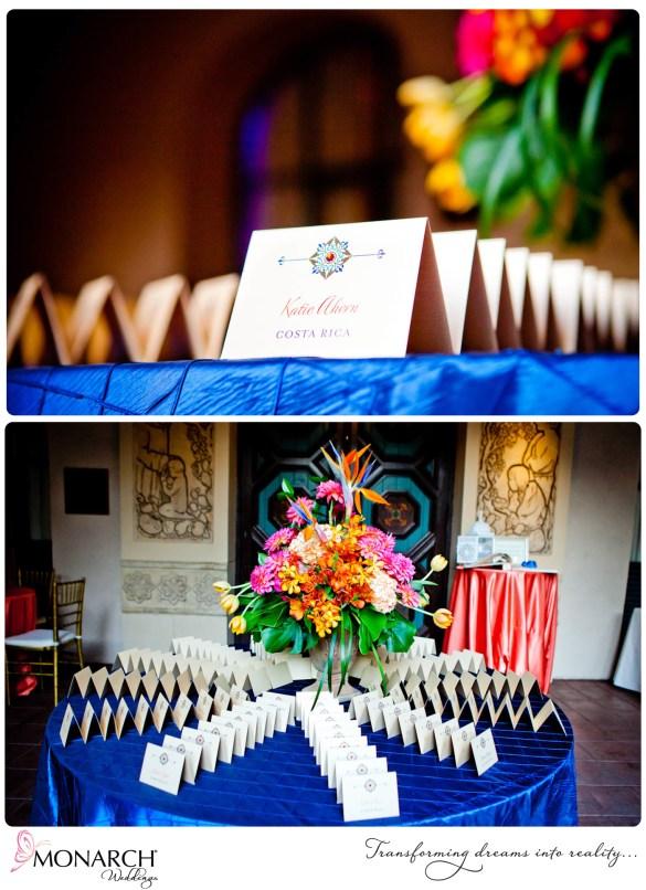 Tropical-Prado-Wedding-Place-cards-royal-blue-pintuck-linen