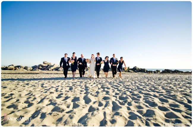 Bridal-party-beach-photo-nautical-theme-wedding-hotel-del-coronado