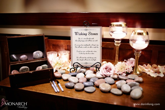 Lodge-at-Torrey-pines-wedding-wishing-stones-for-guest-book