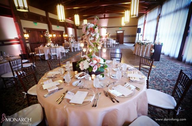 Lodge-at-Torrey-pines-wedding-reception-Alfred-Mitchell-Room-blush-linen
