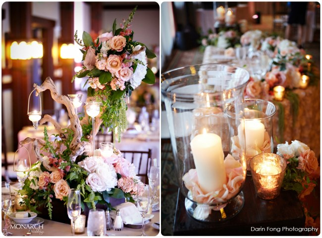Lodge-at-Torrey-pines-wedding-reception-rustic-driftwood-centerpieces