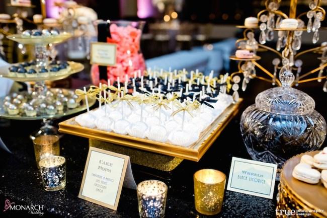 Gatsby-Prado-at-balboa-park-wedding-candy-station-white-black-gold