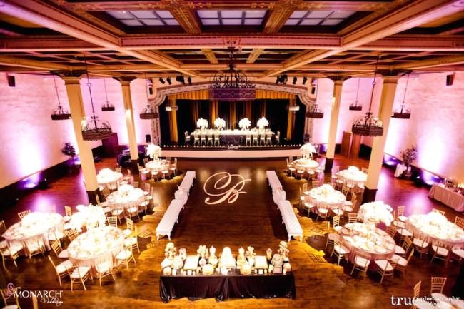Gatsby-Prado-at-balboa-park-wedding-blush-uplights-gobo
