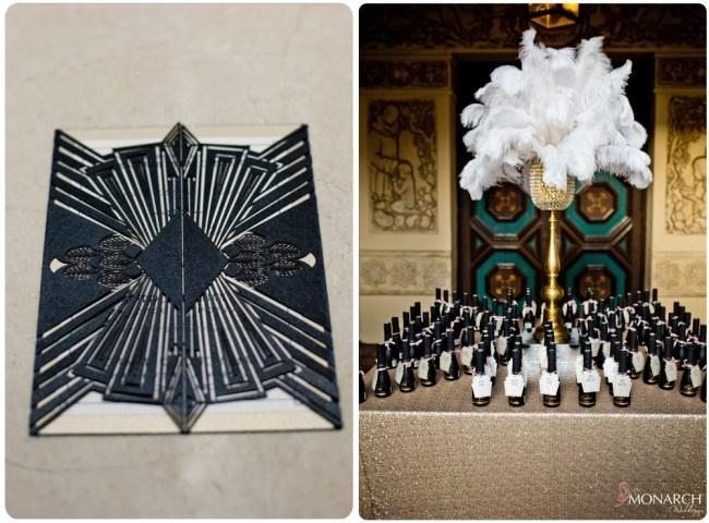 Prado-at-balboa-park-gatsby-wedding-laser-cut-invitation-champagne-placecards