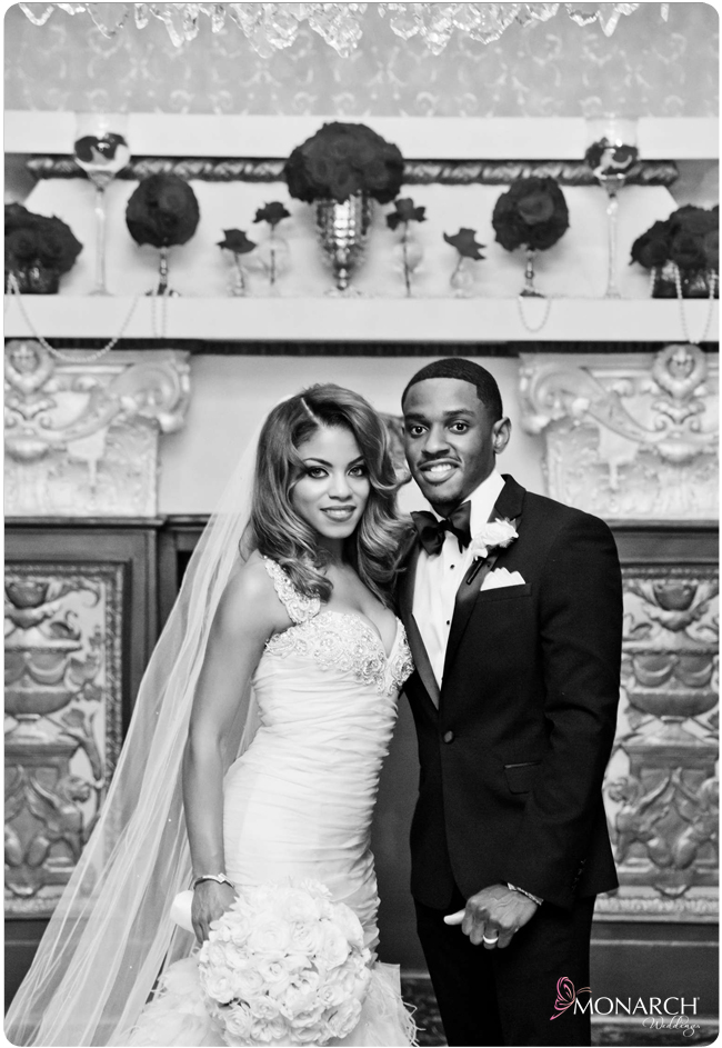 Black-and-white-bride-and-groom-us-grant-hotel