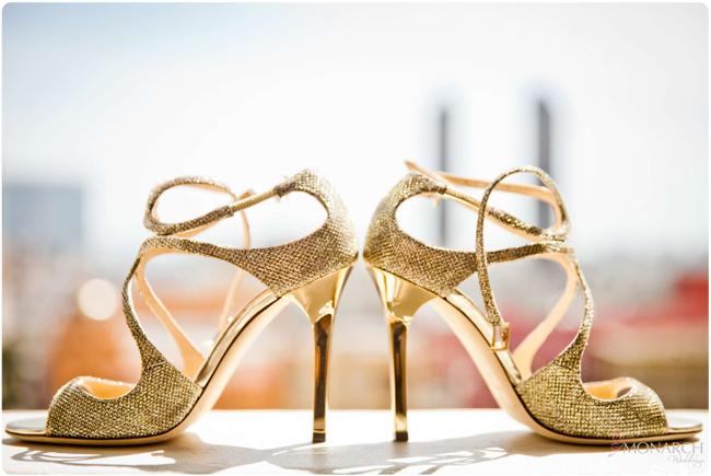 Jimmy-choo-gold-bride-shoes-US-Grant-hotel