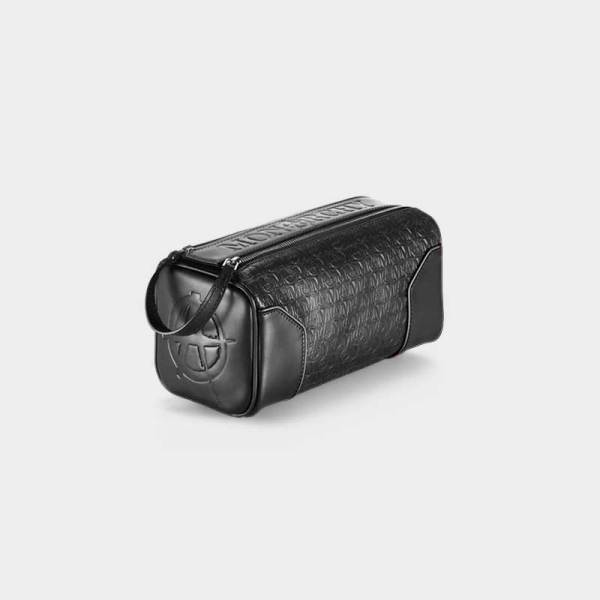 Monarchy London, Luxury Leather Goods for Stylish Men and Women. Luxury black leather toiletry bag for men and women