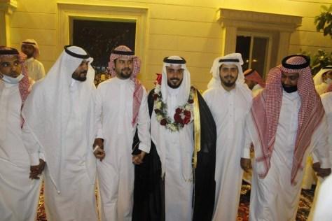 السلمي يحتفل بزفافه في جدة