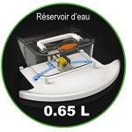 ROBUSTA « TOUCH BOT » LE ROBOT ASPIRATEUR LAVEUR 7 EN 1 – Argent