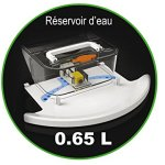 ROBUSTA « TOUCH BOT » LE ROBOT ASPIRATEUR LAVEUR 7 EN 1 – Noir